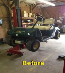 Golf cart Before refurbishing
