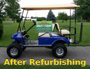 golf cart after refurbishing
