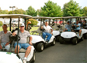Group Outing in Golf Carts at Cozy Acres